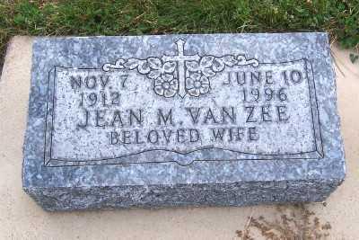 VANZEE, JEAN M. - Sioux County, Iowa | JEAN M. VANZEE