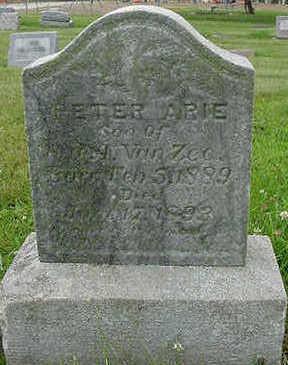 VANZEE, PETER ARIE - Sioux County, Iowa | PETER ARIE VANZEE