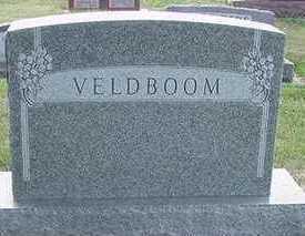VELDBOOM, HEADSTONE - Sioux County, Iowa   HEADSTONE VELDBOOM