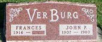 VERBURG, FRANCES - Sioux County, Iowa | FRANCES VERBURG
