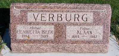 BEEK VERBURG, HENRIETTA - Sioux County, Iowa | HENRIETTA BEEK VERBURG