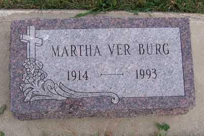 VERBURG, MARTHA - Sioux County, Iowa   MARTHA VERBURG