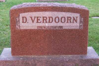 VERDOORN, D. FAMILY HEADSTONE - Sioux County, Iowa | D. FAMILY HEADSTONE VERDOORN