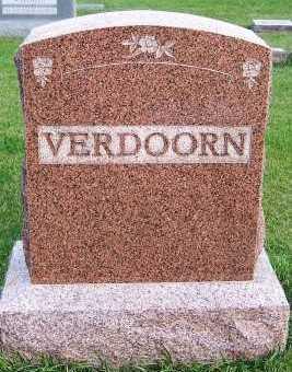 VERDOORN, HEADSTONE - Sioux County, Iowa | HEADSTONE VERDOORN