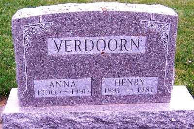 VERDOORN, ANNA - Sioux County, Iowa | ANNA VERDOORN