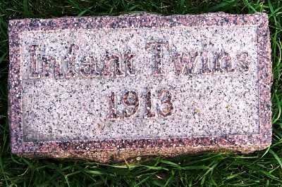 VERDOORN, INFANT TWINS (1913) - Sioux County, Iowa | INFANT TWINS (1913) VERDOORN