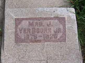 VERDOORN, MRS. J. JR. - Sioux County, Iowa | MRS. J. JR. VERDOORN