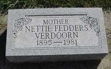 VERDOORN, NETTIE - Sioux County, Iowa | NETTIE VERDOORN