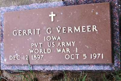 VERMEER, GERRIT G. - Sioux County, Iowa | GERRIT G. VERMEER