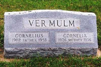 VERMULM, CORNELIUS - Sioux County, Iowa   CORNELIUS VERMULM