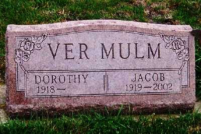 VERMULM, JACOB - Sioux County, Iowa | JACOB VERMULM