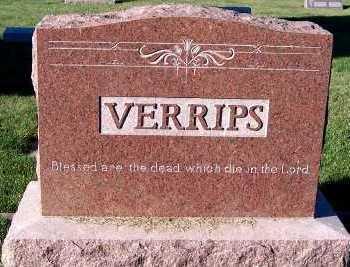 VERRIPS, FAMILY HEADSTONE - Sioux County, Iowa | FAMILY HEADSTONE VERRIPS