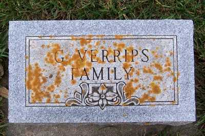 VERRIPS, G. FAMILY HEADSTONE - Sioux County, Iowa | G. FAMILY HEADSTONE VERRIPS