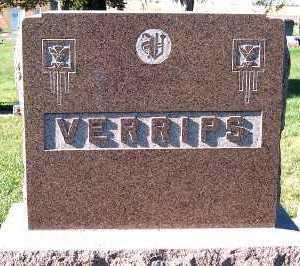 VERRIPS, HEADSTONE - Sioux County, Iowa | HEADSTONE VERRIPS
