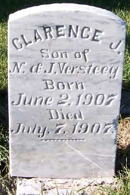 VERSTEEG, CLARENCE J. (SON OF N.&J.) - Sioux County, Iowa   CLARENCE J. (SON OF N.&J.) VERSTEEG