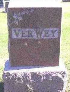 VERWEY, HEADSTONE - Sioux County, Iowa | HEADSTONE VERWEY