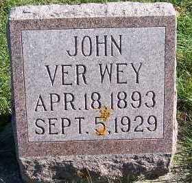 VERWEY, JOHN - Sioux County, Iowa | JOHN VERWEY