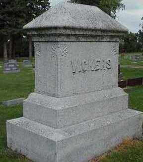VICKERS, HEADSTONE - Sioux County, Iowa   HEADSTONE VICKERS