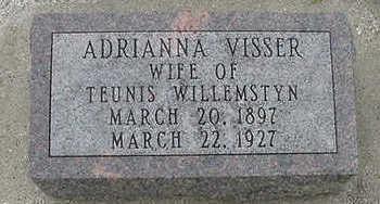 VISSER, ADRIANNA - Sioux County, Iowa | ADRIANNA VISSER