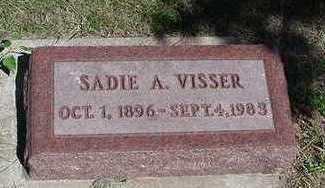 VISSER, SADIE A. - Sioux County, Iowa   SADIE A. VISSER