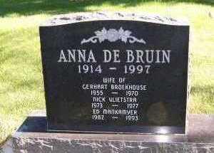 DEBRUIN VLIETSTRA, ANNA - Sioux County, Iowa | ANNA DEBRUIN VLIETSTRA