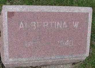 VLOTHO, ALBERTINA W. - Sioux County, Iowa | ALBERTINA W. VLOTHO