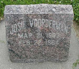 VOORDERMAN, JOSIE - Sioux County, Iowa   JOSIE VOORDERMAN