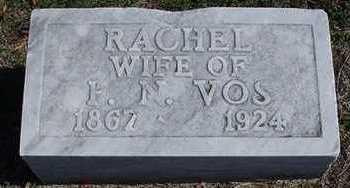 VOS, RACHEL (MRS. P. N.) - Sioux County, Iowa   RACHEL (MRS. P. N.) VOS
