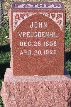 VREUGDENHIL, JOHN - Sioux County, Iowa | JOHN VREUGDENHIL