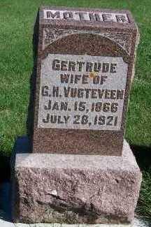 VUGTEVEEN, GERTRUDE (MRS. G.H.) - Sioux County, Iowa | GERTRUDE (MRS. G.H.) VUGTEVEEN