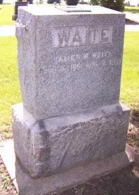 WAITE, JAMES W. - Sioux County, Iowa   JAMES W. WAITE