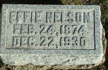 WAKEFIELD NELSON, EFFIE - Sioux County, Iowa   EFFIE WAKEFIELD NELSON