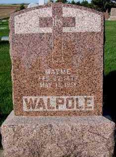 WALPOLE, HEADSTONE - Sioux County, Iowa   HEADSTONE WALPOLE