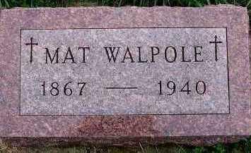 WALPOLE, MAT - Sioux County, Iowa   MAT WALPOLE