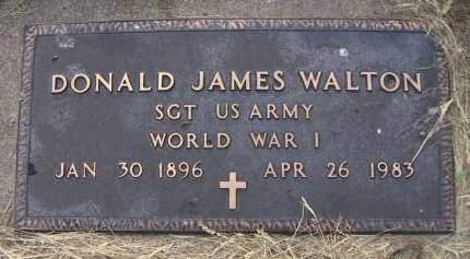 WALTON, DONALD JAMES - Sioux County, Iowa | DONALD JAMES WALTON