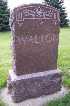 WALTON, HEADSTONE - Sioux County, Iowa | HEADSTONE WALTON
