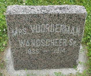 WANDSCHEER, MRS. VOORDERMAN (SR.) - Sioux County, Iowa | MRS. VOORDERMAN (SR.) WANDSCHEER