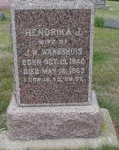 WARNSHUIS, HENDRIKJE J. - Sioux County, Iowa | HENDRIKJE J. WARNSHUIS