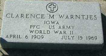 WARNTJES, CLARENCE M. - Sioux County, Iowa   CLARENCE M. WARNTJES