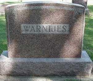 WARNTJES, HEADSTONE - Sioux County, Iowa | HEADSTONE WARNTJES