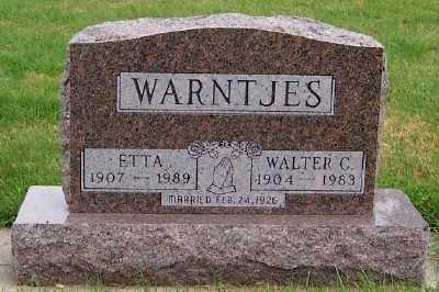 WARNTJES, WALTER C. - Sioux County, Iowa | WALTER C. WARNTJES