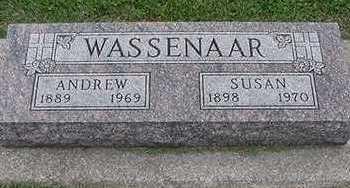 WASSENAAR, SUSAN (MRS. ANDREW) - Sioux County, Iowa   SUSAN (MRS. ANDREW) WASSENAAR