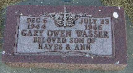 WASSER, GARY OWEN - Sioux County, Iowa | GARY OWEN WASSER