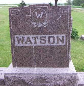 WATSON, HEADSTONE - Sioux County, Iowa | HEADSTONE WATSON