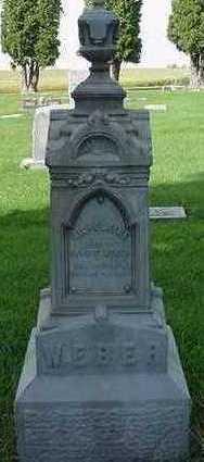 WEBER, WILHELMINE (MRS. ERNEST) - Sioux County, Iowa | WILHELMINE (MRS. ERNEST) WEBER