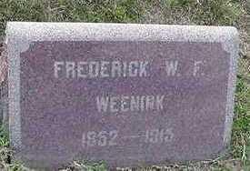 WEENINK, FREDERICK W. F. - Sioux County, Iowa | FREDERICK W. F. WEENINK
