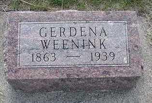 WEENINK, GERDINA - Sioux County, Iowa | GERDINA WEENINK