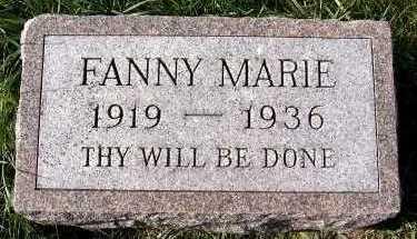 WEGTER, FANNY MARIE - Sioux County, Iowa   FANNY MARIE WEGTER