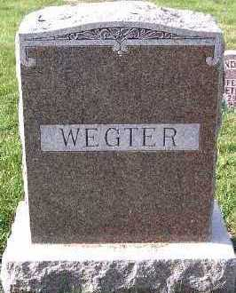 WEGTER, FAMILY HEADSTONE - Sioux County, Iowa   FAMILY HEADSTONE WEGTER