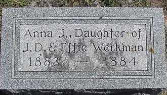 WERKMAN, ANNA J. - Sioux County, Iowa   ANNA J. WERKMAN